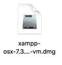 XAMPPのディスクイメージのアイコン